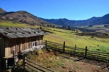 ブータン ポブジカ村の朝