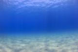 Underwater background - sunlight on ocean floor