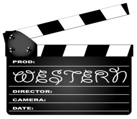 Western Movie Clapperboard