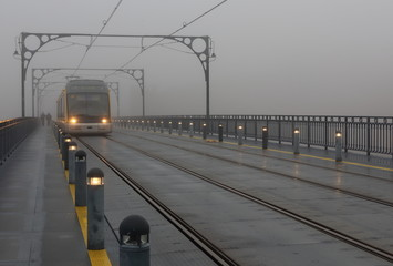 the train in fog