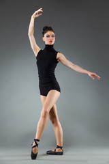 Dancer in pointe shoes