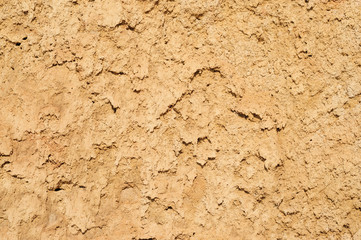 Dry soil and sand closeup texture