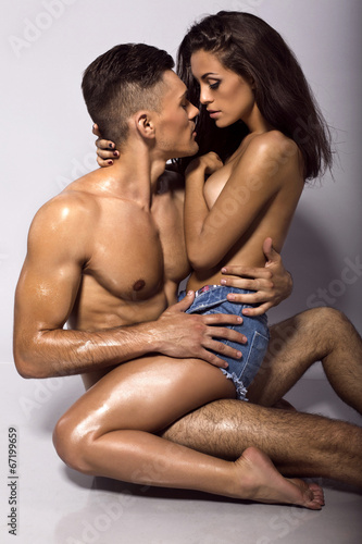 canvas print picture sexy beautiful couple