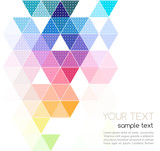 Fototapety Vector abstract geometric banner with triangle