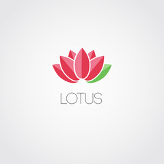 Vector lotus flowers design for spa, resort
