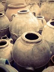 antichi vasi di terracotta