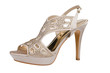 Elegant stiletto shoe with rhinestones