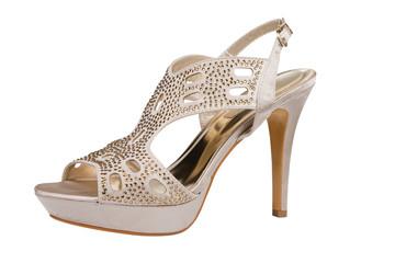 Elegant stiletto shoe with rhinestones