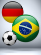 Germany versus Brazil Flag Soccer Game