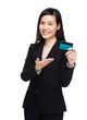 Business woman hold with credit card