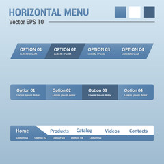 Horizontal menu