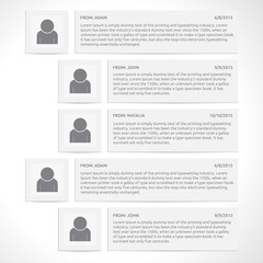 Website comments template