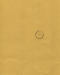 Kraft paper background with postmark.
