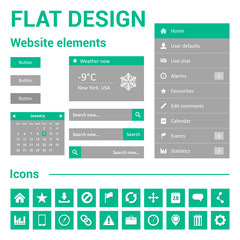 Flat design for website