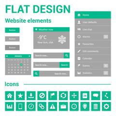 Flat design for website