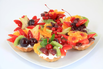 party platter with sweet fruit cakes
