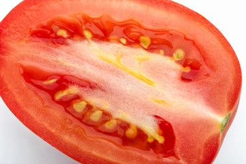 Closeup of Cut Tomato