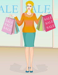 Woman fashion clothes on sale