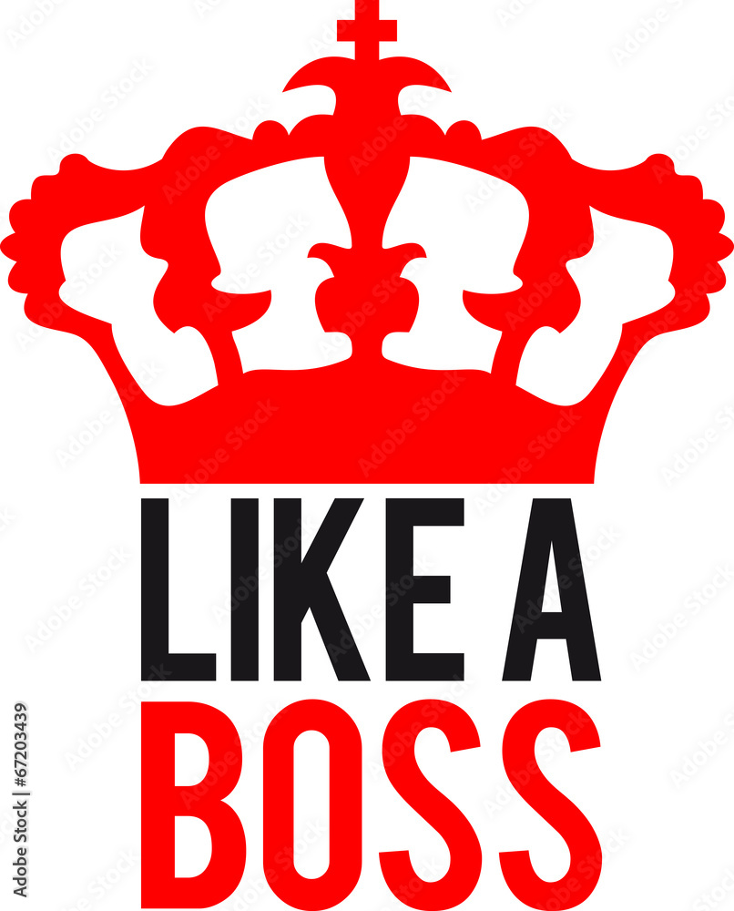 Like A Boss King Logo Design Wall Sticker Wall Stickers