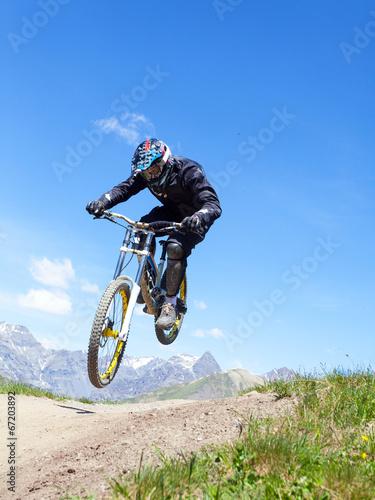 Deurstickers Fietsen rider