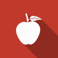 apple icon with long shadow