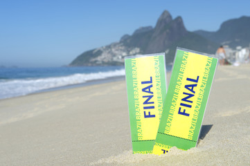 Two Brazil Final Football Tickets Ipanema Beach
