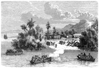 Violent European Invaders in Pacific Area - 18th century