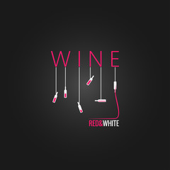 wine concept design background