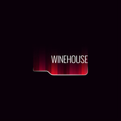 wine bottle abstract background