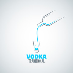 vodka shot glass bottle background