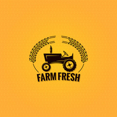 farm tractor design background