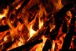 Background with coals, flame and fire