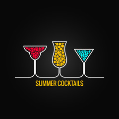 summer cocktails menu background