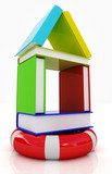 Books house on lifeline poster