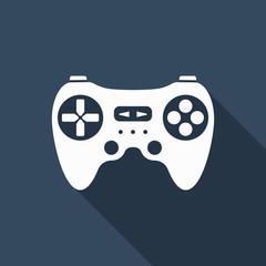 game controller icon with long shadow