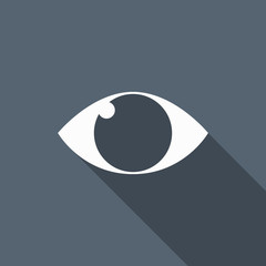 eye icon with long shadow
