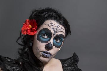Sugar Skull Frau Portrait