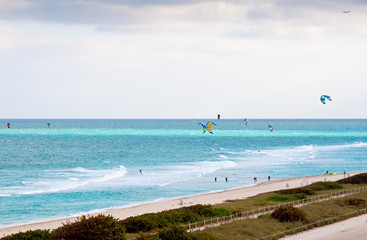 kitesurfing in Miami