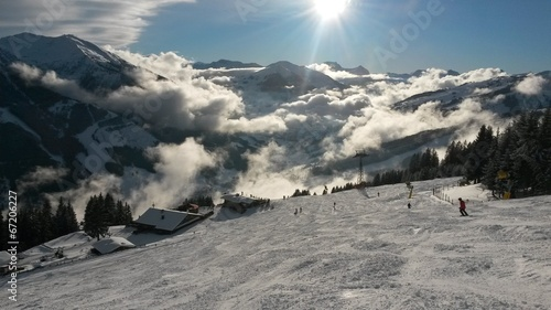 canvas print picture Saalbach im Winter