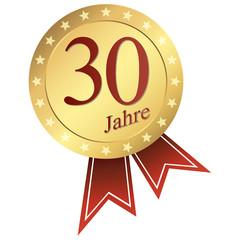 gold button german - Jubiläum 30 Jahre