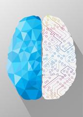 Human brain creative concept