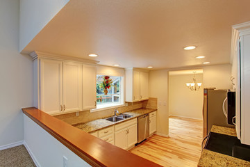Kitchen room with white cabinets