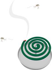 蚊取り線香とフラフラな蚊