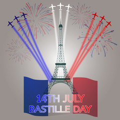 14th July Bastille Day of france