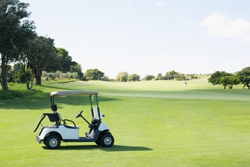 Golf buggy with no one around