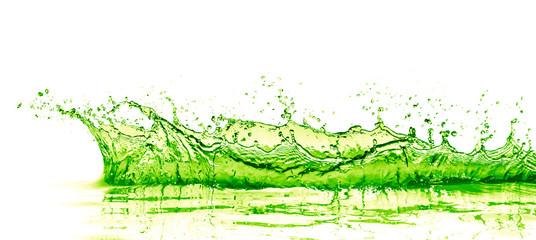 lime drink splash