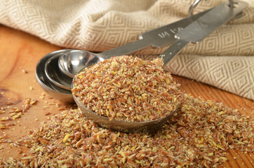 Coarse ground flax seed