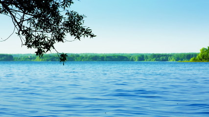 Beautiful scenery of the Lake. HD 1080.
