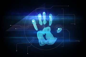 Digital security hand print scan