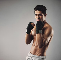 Shadow boxing to lose weight